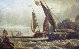 Wind Against Tide by Clarkson Stanfield at Thurrock Museum