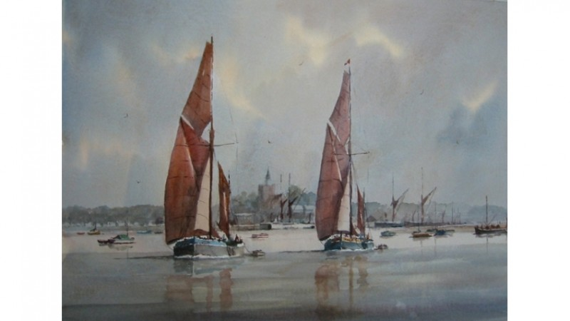 Sailing out of Maldon