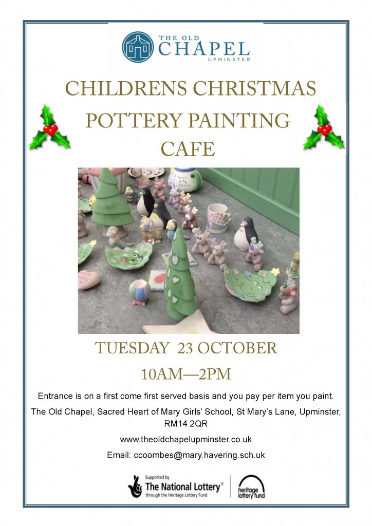Pottery Cafe xmas 2018 poster